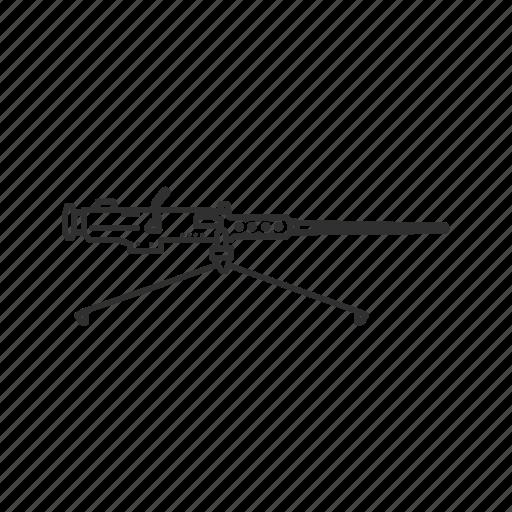 firearms, gun, m9, machine gun, military, mounted gun, weapons icon