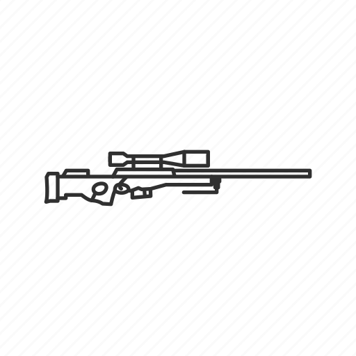 firearms, gun, hunting, military, sniper, sniper rifle, weapons icon