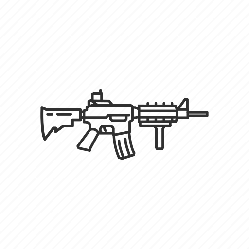 assault raifle, automatic, firearms, gun, m4 carbine, military, weapons icon