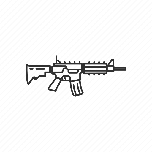 ar15, assault rifle, automatic, firearms, gun, military, weapons icon