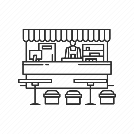 court, food, food court, food stand, kiosk, mall, stall icon