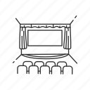 cinema, cinema hall, media, movie, movie theater, stage, theater