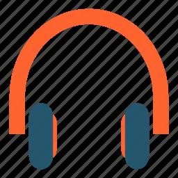 earphones, headphones, headset, listen, multimedia, music, sound icon