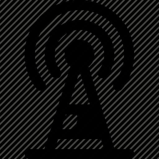 broadcast, communication, radio, tower icon