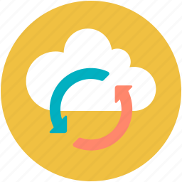 cloud refresh, cloud reload, cloud sync, computing cloud, refresh sign icon