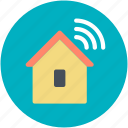 house, wifi signals, wifi zone, wireless fidelity, wireless internet icon