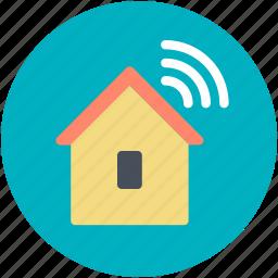 house, wifi signals, wifi zone, wireless fidelity, wireless internet icon