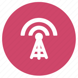 antenna, broadcast, communication, radio tower, tower icon
