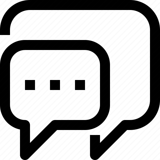 bubble, communication, dialog, speech, talk icon