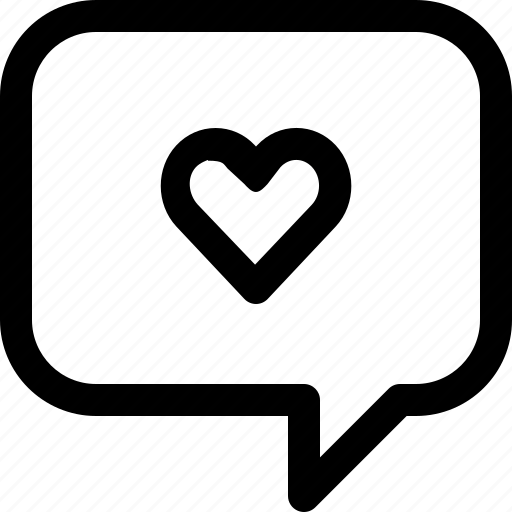 bubble, communication, love, speech, talk icon