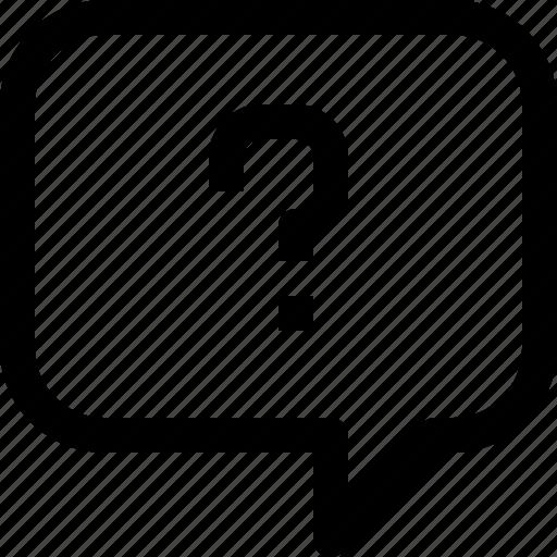 bubble, communication, question, speech, talk icon