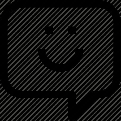 bubble, communication, smile, speech, talk icon