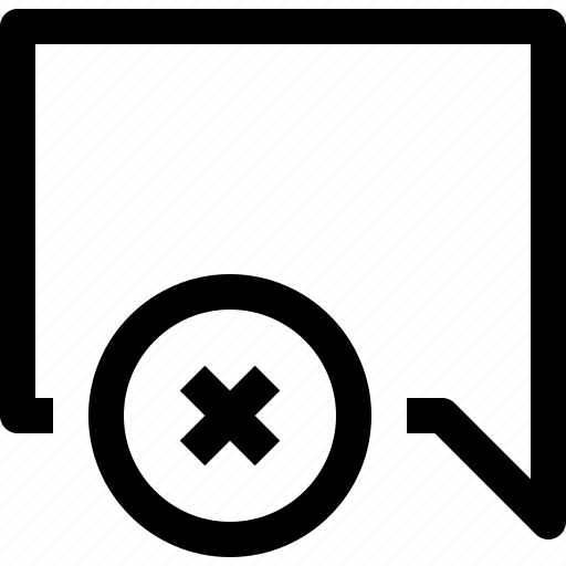 bubble, communication, speech, talk, x icon