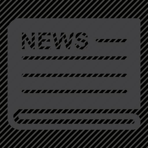 news, newspaper icon