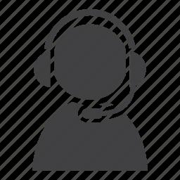 call center, customer service, operator, support icon