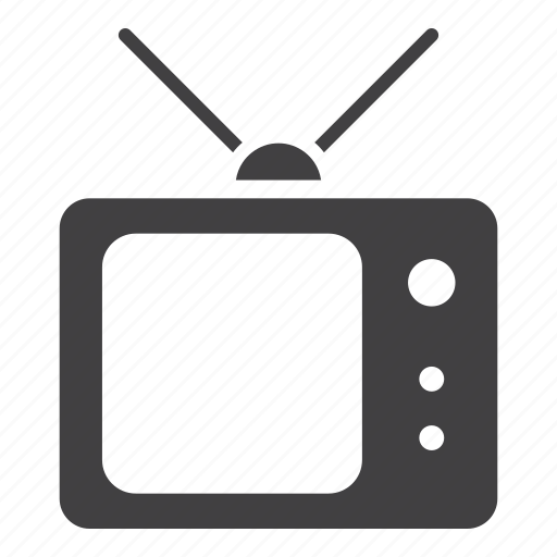 retro, television, tv icon