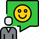 bubble, comunication, people, speech, talk icon