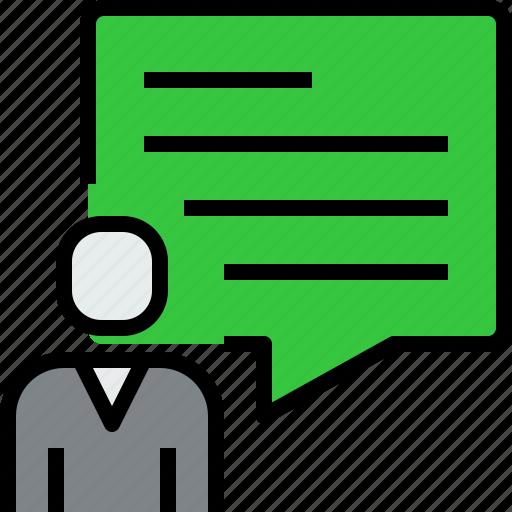 bubble, comunication, people, speech, talk icon