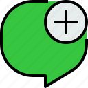 bubble, communication, speech, talk icon