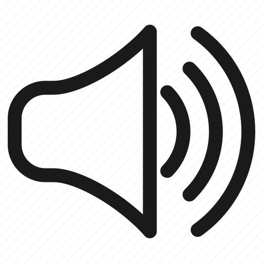 announcement, audio, communication, music, sound, speaker, volume icon