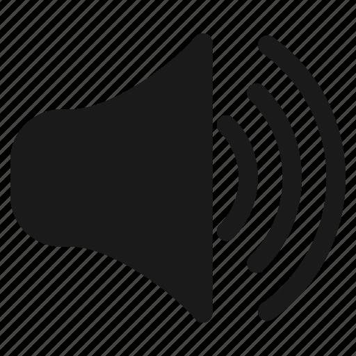 audio, communication, media, music, sound, speaker, volume icon