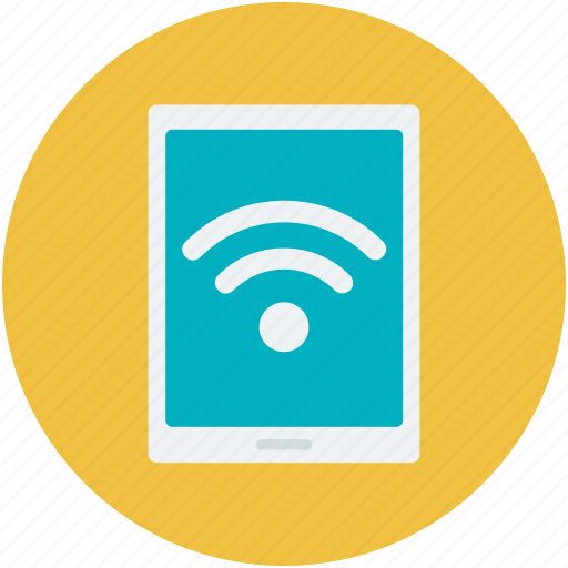 mobile, wifi connected, wifi connection, wifi signals, wireless internet icon