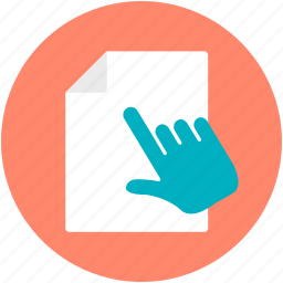 click, click hand, cursor, hand gesture, open document icon