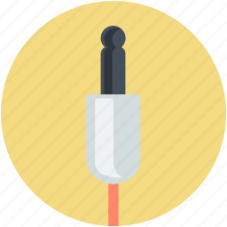 cable cord, headphone connector, jack cable, microphone connector, plug connector icon