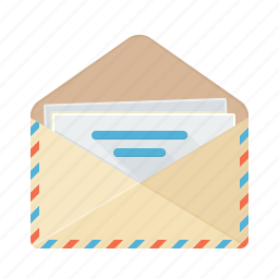 communication, conversation, email, envelope, letter, mail, post office icon