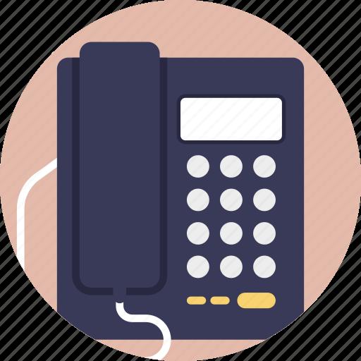 business telephone, landline, office phone, telecommunication, telephone icon