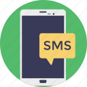 mobile communication, short message service, sms, sms marketing, text message icon