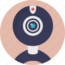 digital cam, video chat, video communication, web camera, webcam icon