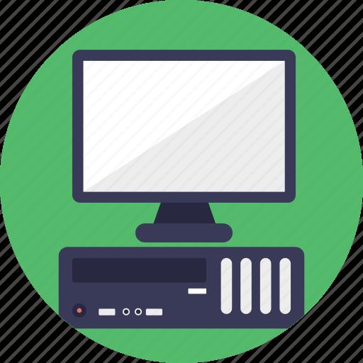 computer, desktop computer, early personal computer, ibm pc, ibm personal computer icon