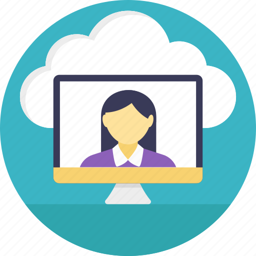 cloud computing, cloud-based video conferencing, information technology, wireless communication, wireless technology icon