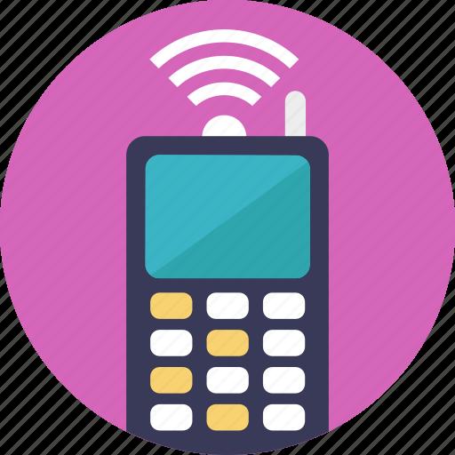 communication, portable radio, radio transmitter, walkie talkie, wireless icon