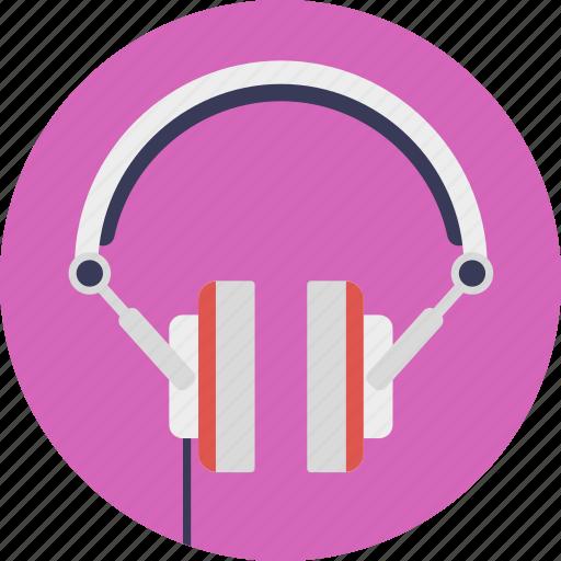 earphones, headphone, headset, listening to music, music icon