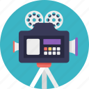 movie camera, professional movie camera, shooting, video camera, video recorder icon