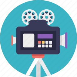 movie camera, professional movie camera, shooting, video camera, video recorder icon