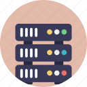 data storage, internet hosting, internet server, web hosting, web server icon