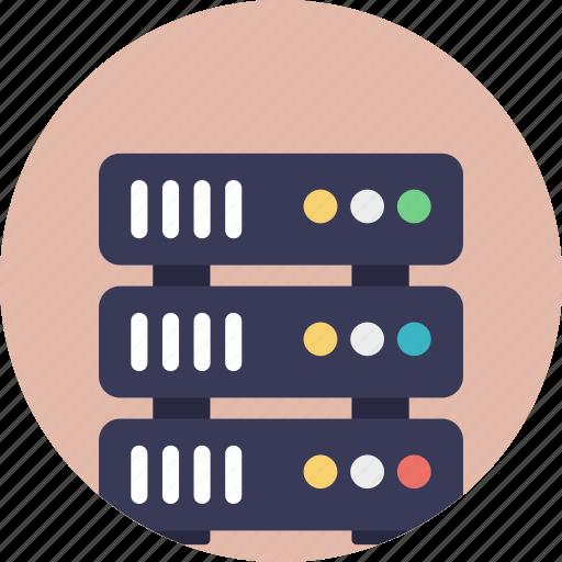 data storage, internet hosting, internet server, web hosting, web server icon