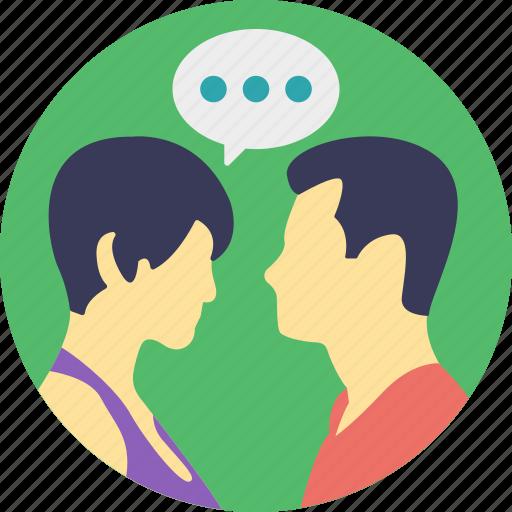 couple communicating, couple communication, male and female communicating, relationship, talking couple icon