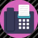 facsimile, fax, telecopying, telefacsimile, telefax icon