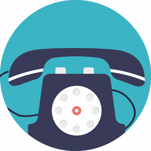 communication device, landline, phone, retro telephone, telephone icon