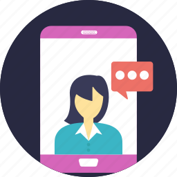 online communication system, video call, video call app, video call application, video chat icon