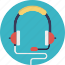 audio device, earphone, headphone, headphone with mic, headset, operator icon
