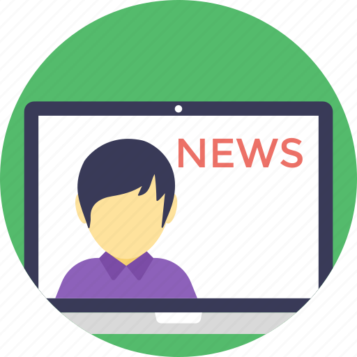 live news, news, news media, news online, newscast icon