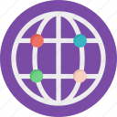 digital earth, earth, grid globe, planet, world map icon