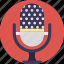 mic, microphone, music, singing, vintage microphone