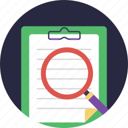 audit, inspect, reporting, review, survey report icon