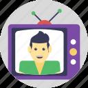 antenna tv, retro tv, tv, tv set, vintage tv